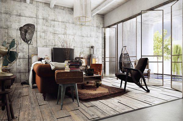 Industriele huiskamer
