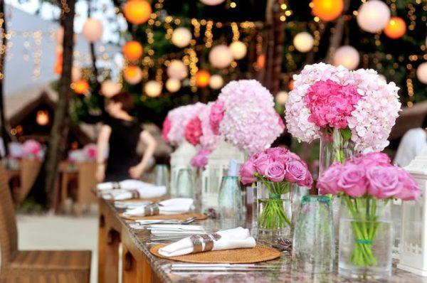 Bloemdecoraties-bruiloft