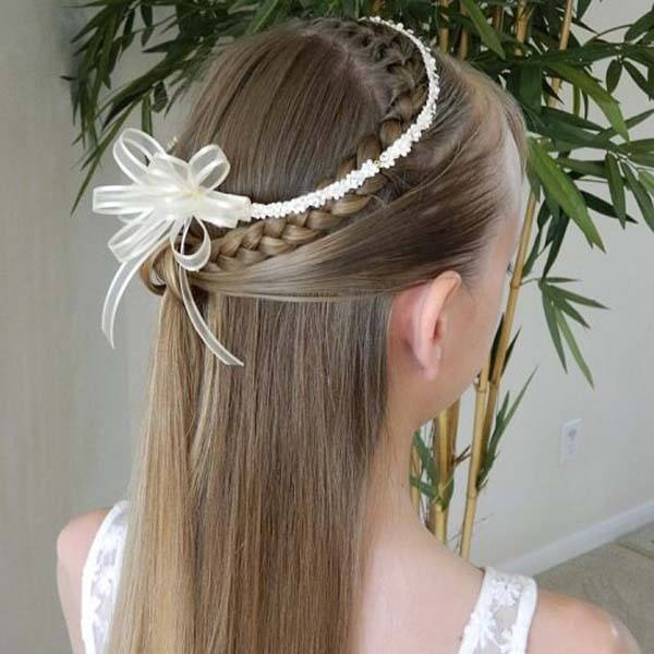 kapsel bruidsmeisje steil haar