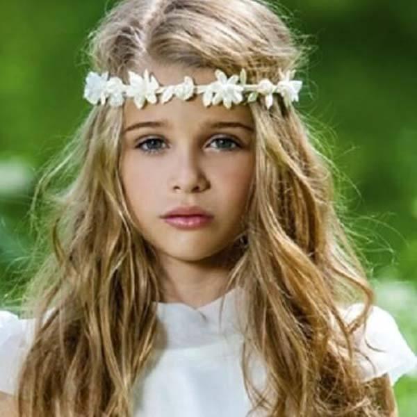 witte bloemenkroon
