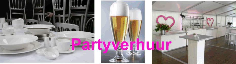 Partyverhuur voor feest en bruiloft