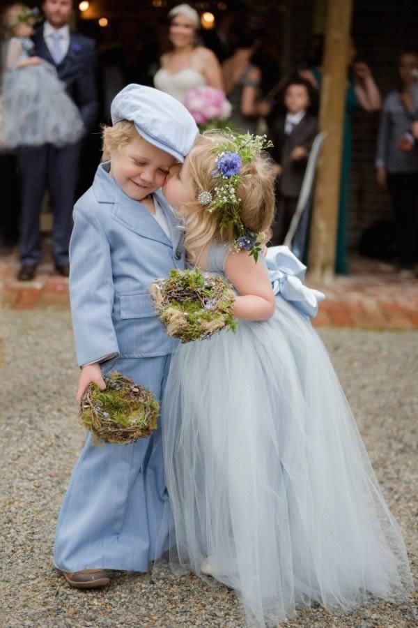Bruidsmeisje en bruidsjonker