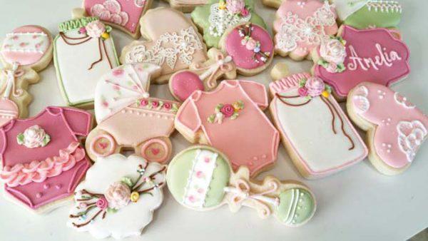 Mooie koekjes voor een kraamfeest