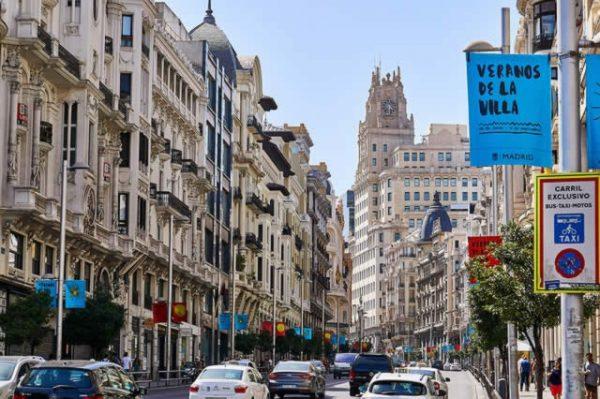 Madrid en de koninklijke kant van Spanje
