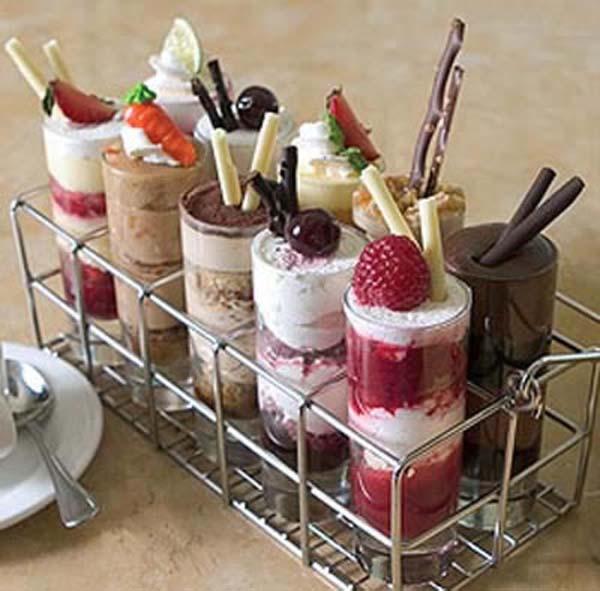 Dessert shots bruidstaart