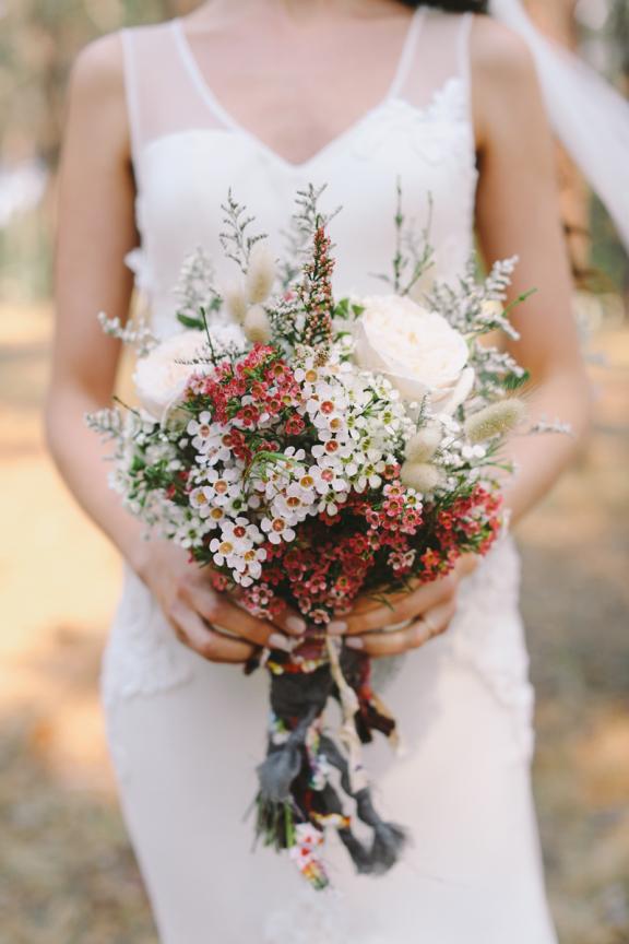 Handgebonden bruidsboeket