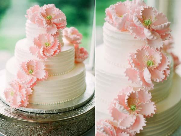 Bruidstaart suiker rozen